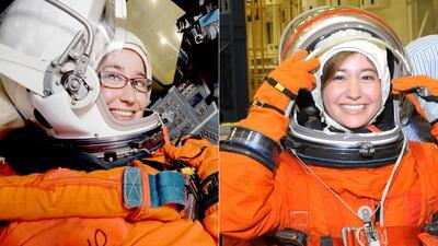 Susana (izquierda) y Alma Stephanie Tapia (derecha) trabajan en la NASA...