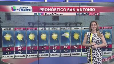 Viernes con condiciones secas y cálidas en San Antonio