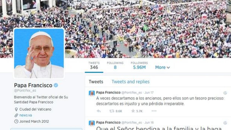 El Papa Francisco es sumamente popular en las redes sociales.
