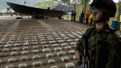 Droga incautada en 2014 al Clan Usugua, en Colombia