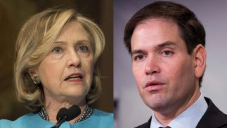 Hillary Clinton y Marco Rubio