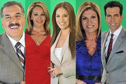 Periodistas y presentadores de la cadena Univision se unieron para parti...