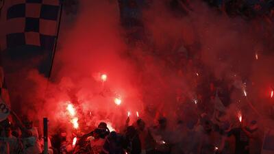 Fanáticos del Marsella montaron un 'infierno' en la final de Europa League
