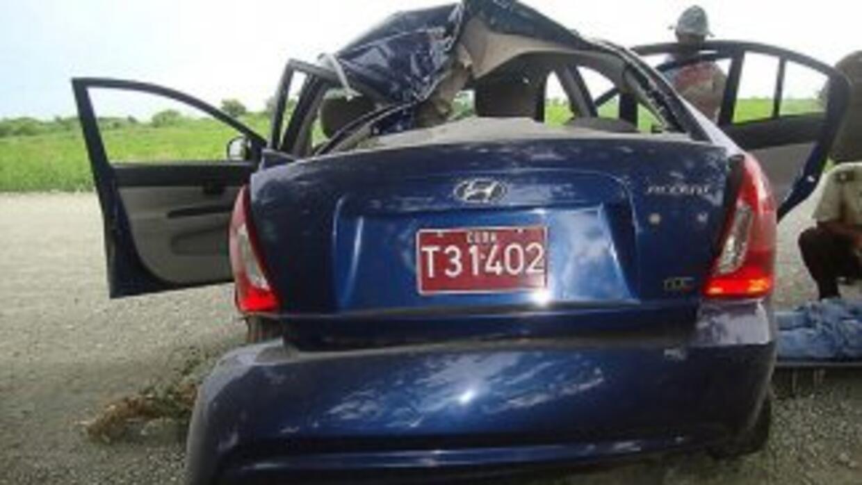 Así quedó el vehículo en que perdió la vida Oswaldo Payá.