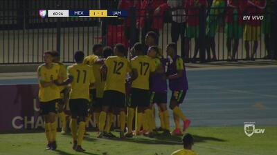 Gran gol de Jibbison que empata el juego para Jamaica
