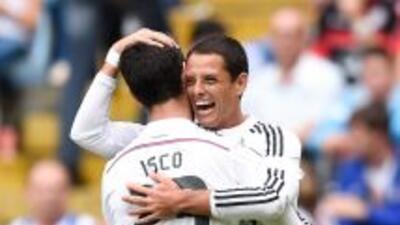 Javier 'Chicharito' Hernández ha iniciado bien su paso por el Real Madrid.