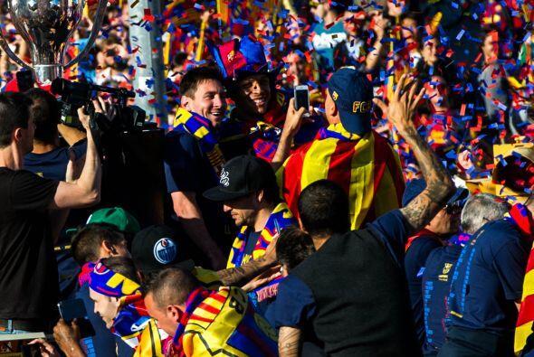Lionel Messi no se perdió el recorrido ni por la lesión qu...
