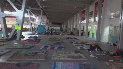 Migrantes de la caravana consideran excesivo el dispositivo de seguridad en Guadalajara, México