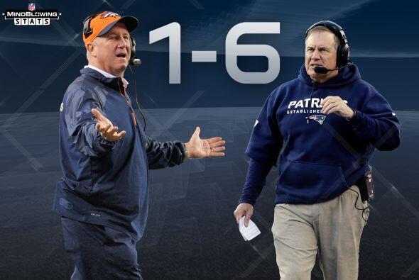 9 Fox vs. Belichick: John Fox está 1-6 contra los Patriots y Bill Belich...