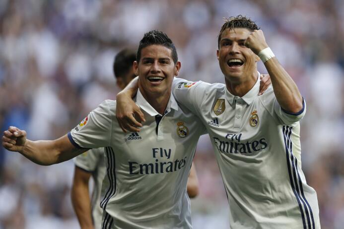 James Rodríguez llegó en 2014 al Real Madrid tras ser Bota de Oro en el...