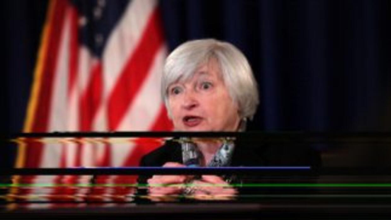 La presidenta de la Reserva Federal (Fed, banco central) de EEUU, Janet...