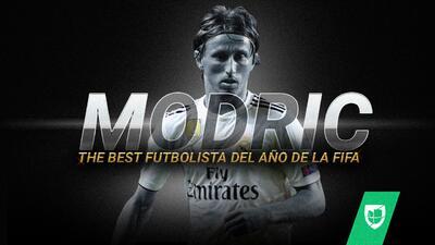 Luka Modric recibe el premio The Best como Futbolista del Año de la FIFA