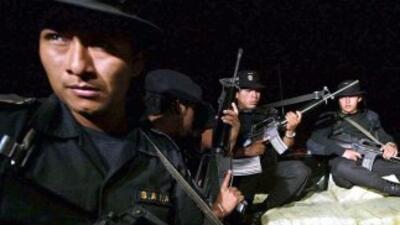 Una unidad del Ejército de Guatemala se enfrentó a tiros a un grupo de s...
