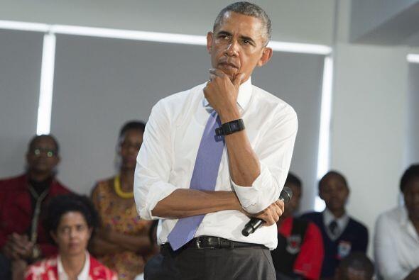 El presidente de EEUU escuchó atentamente.