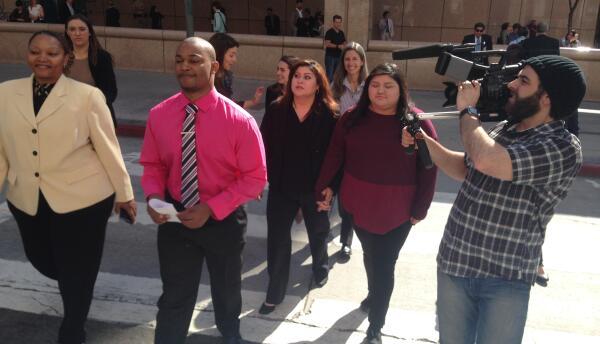 Estudiantes que presentaron argumentos en Corte de Apelaciones.