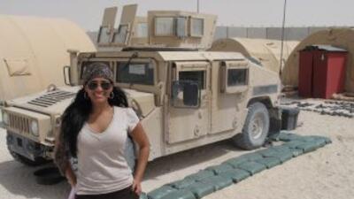 Para Celinés Toribio, visitar a los soldados en servicio en el Golfo Pér...