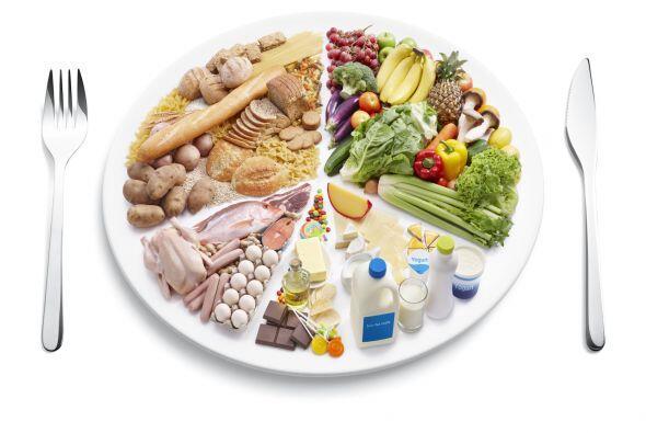 Dividir tu plato para controlar las porciones, te permitirá seguir comie...