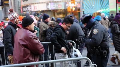 Refuerzo de seguridad en Manhattan para fiestas de fin de año