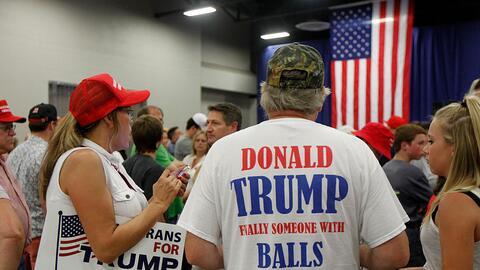 Seguidores de Trump en Cincinnati, Ohio, 6 de julio de 2016