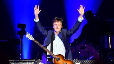 FRESNO, CA - APRIL 13: Paul McCartney performs on Opening Night of the O...
