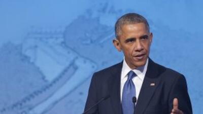 El presidente Barack Obama durante su discurso en la Cumbre APEC en 2015.