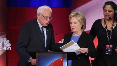 Hillary Clinton y Bernie Sabders