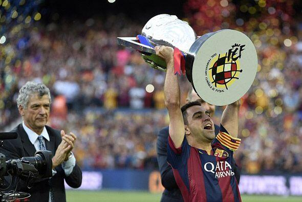 Hasta ahora Xavi ha levantado 23 títulos que ha conquistado en las dieci...