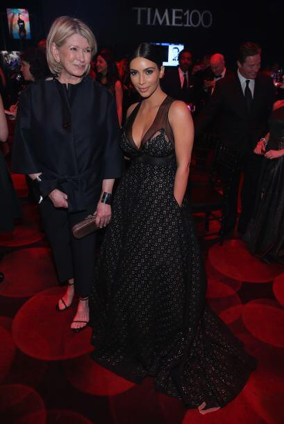 Kim también se retrató con Martha Stewart.