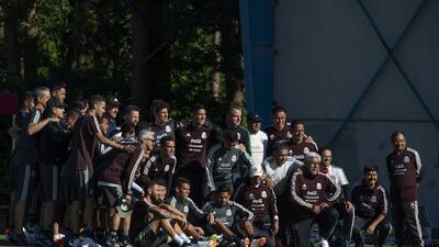 Así es la jornada de entrenamiento de México a pesar de la ausencia de Héctor Herrera