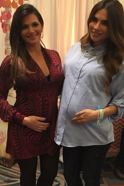 ¡Dos lindas embarazadas! Bárbara Bermudo posa con Ale Espinoza.