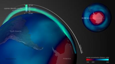El agujero de la capa de ozono se ha encogido 1.5 millones de millas cuadradas (tanto como dos veces México)