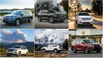 Las SUVs medianas más y menos seguras para los copilotos en 2018