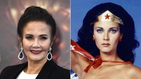 Lynda Carter encarnó a la Mujer Maravilla en televisión de...