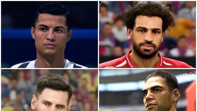 Inconfundibles: así lucen las estrellas del fútbol en los videojuegos PES19 y FIFA19