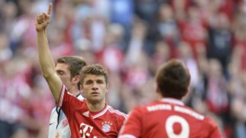 Thomas Mueller celbra ante Mainz.