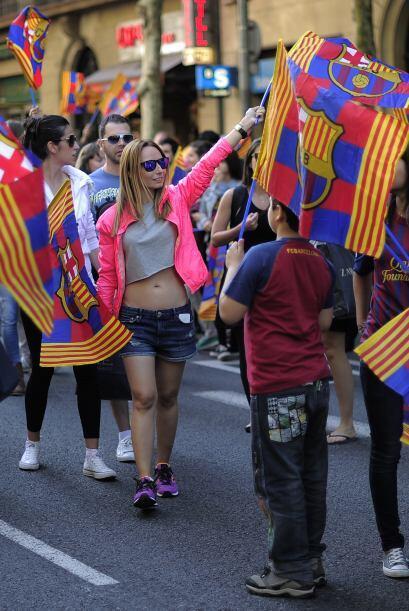 Se armó la fiesta en Barcelona un día después de qu...