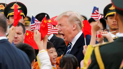 Donald Trump en China: la diplomacia de los negocios (fotos)