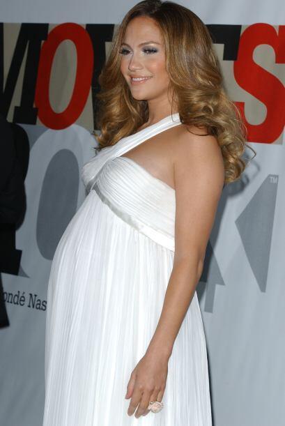 Jennifer Lopez fue una de las famosas que perdió un poco su figura por e...