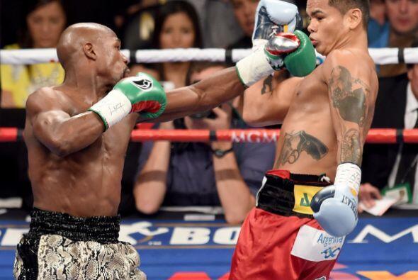Mayweather sacó a relucir todo su boxeo.