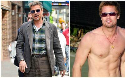 Brad Pitt ha llamado la atención por lo delgado y un poco descuidado que...