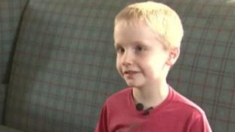 Hunter Yelton de seis años. (Fotografía tomada de Twitter).