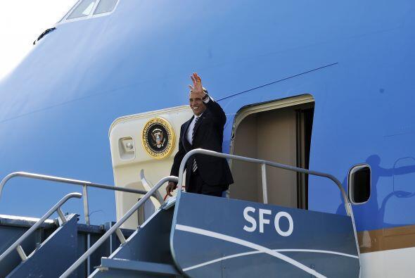 El presidente Barack Obama llegó esta tarde a San Francisco para una bre...