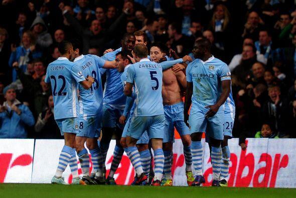 Todo el estadio gritó el gol de Nasri, que valía el triunf...