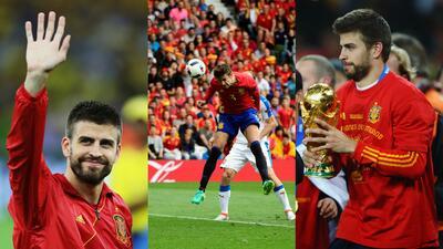 Gerard Piqué, entre triunfos y polémicas en la Selección de España