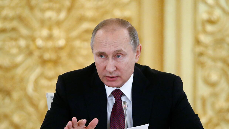 El presidente ruso, Vladimir Putin, durante un discurso en el Kremlin el...