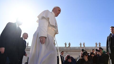 El papa Francisco, en la Plaza de San Pedro en el Vaticano.