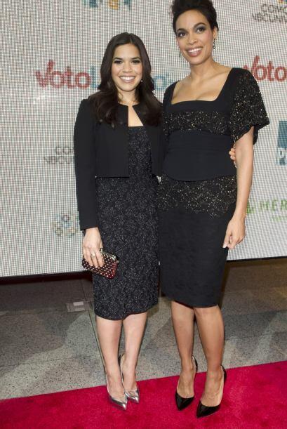 Rosario y America lucieron espectaculares para el evento con vestidos ne...