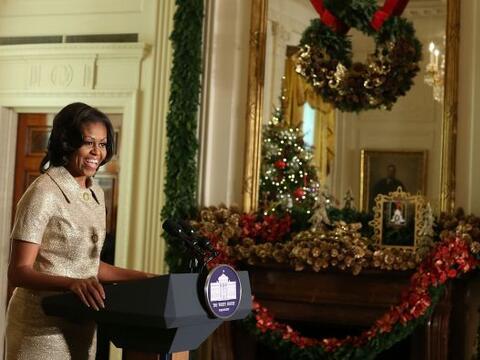 Michelle Obama, la primera dama de Estados Unidos, ofreció un ant...