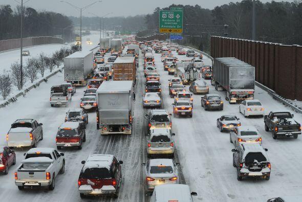 Las carreteras del corredor de la Interestatal I-95, la zona más poblada...