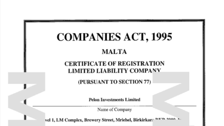 Pelon Investment Limited es la segunda empresa que abrió en Malta.